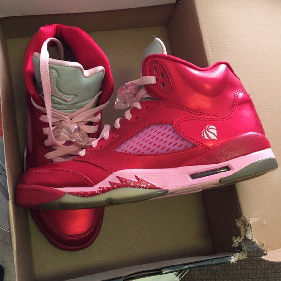 3b80f8d9461 Air Jordan Shoes - AIR JORDAN 5 RETRO VALENTINES DAY Pink & Red